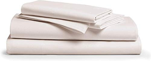 Comfy Sheets 100% Egyptian Cotton King Sheet Set 1000 Thread Count 4 Pc King Cream Bed Sheet with Pillowcases, Hotel Quality Fits Mattress Up to 18'' Deep Pocket
