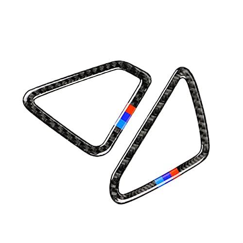 Molduras Interior Cubierta 2 Uds Estilo De Coche De Fibra De Carbono Real Aire Acondicionado Salida De Ventilación Cubierta Embellecedora para BMW X5 X6 F15 F16 2014 2015 2016 2017 (Color : 1)