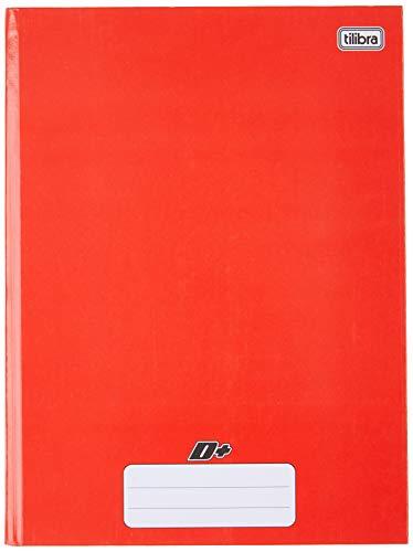 Caderno Brochura Capa Dura, Tilibra, D+, 96 Folhas, Tamanho Universitário (20x27 cm), vermelho, Pautado, 1 Matéria