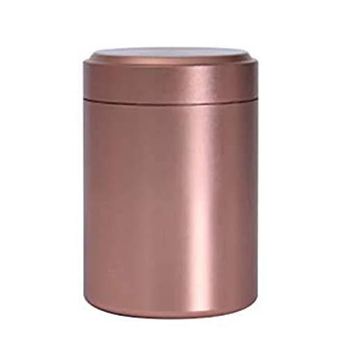 GAKIN Bote de té portátil de aluminio para almacenar hierbas, con sello a prueba de olores, color rosa