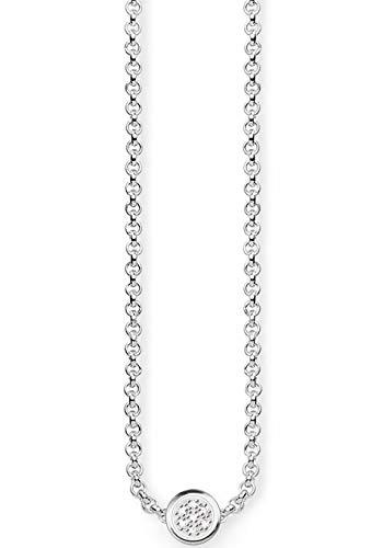 Thomas Sabo Damen-Kette mit Anhänger Glam & Soul 925 Silber Diamant (0.05 ct) weiß AIR-D_KE0003-725-14