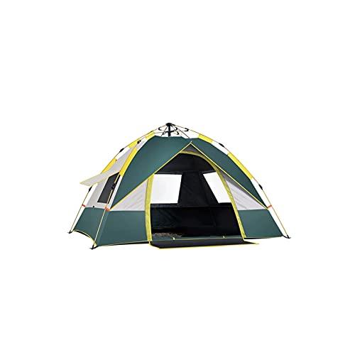 KJLY Tiendas de campaña para 3 personas, para acampar, familia, al aire libre, portátil, protección solar, impermeable, 200 x 200 x 140 cm, 78.7 x 78.7 x 55.1 pulgadas