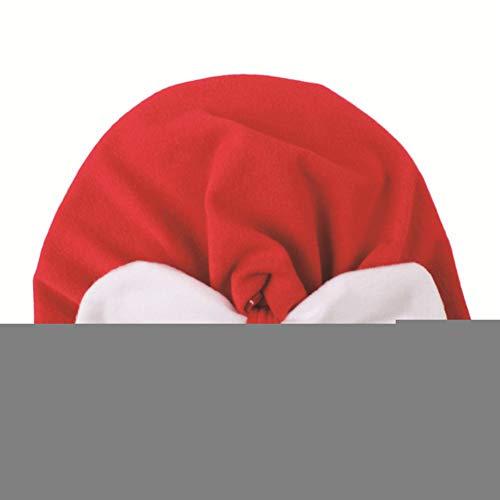 YOUGANT kerstmuts baby-kerstkraag hoed fluwelen kleurknoop-kap hoed kerstfeest rekwisieten B
