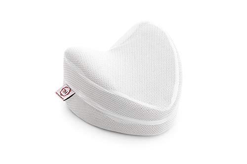 Textilhome - Almohada Pierna y Rodilla Viscoelástica Carbono Perforado - Tejido Ecológico 3D, núcleo de Visco Puro 100% Natural - Facilita el Dormir de Lado