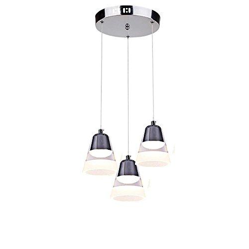 LED Moderno Simple Acrílico Plata Luz de Techo Creative Bells Colgante luces 25 W para Sala Comedor Dormitorio Oficina