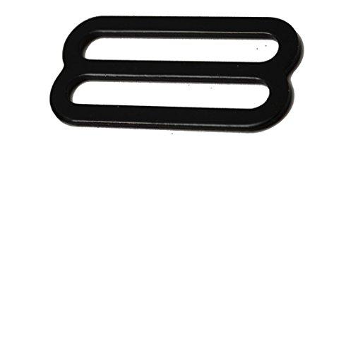 1' Black Metal Triglide Buckles - Pack of 10