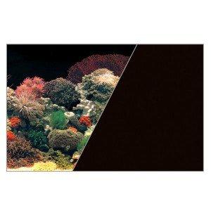 Zolux Poster Fond Décor Découpé pour Aquarium Corail/Noir 80 x 50 cm