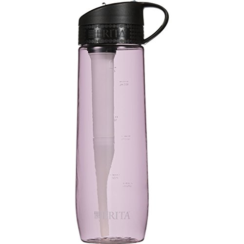 Brita 23.7 Ounce Hard Sided Water Bottle with Filter - BPA Free - Pink