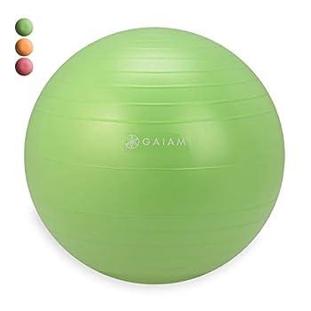 Gaiam Kids Balance Ball Chair Ball - Extra Balance Ball for Kids Balance Ball Chair Green 38cm