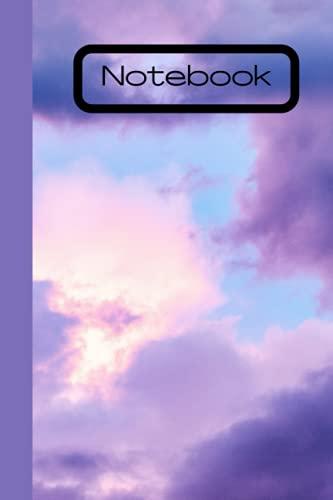 Purple Sky Notebook: Cute purple clouded sky note book