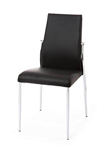 Wink design - Columbia - pièce de 4 chaises noires - simili-cuir