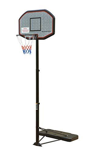 Northern Stone Pro Court Tragbarer Basketballkorb, höhenverstellbar, mit Rückwand, offizielle Höhe