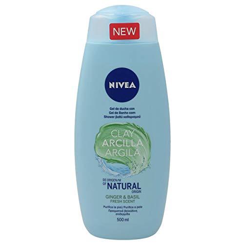 NIVEA gel de ducha arcilla con ginger & basil bote 500 ml