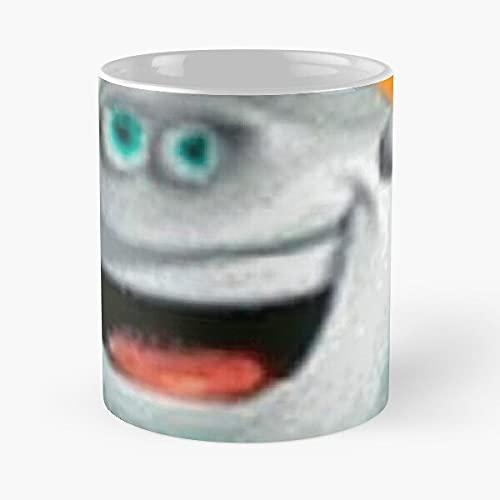Marselo – La taza tiene la mano 11 oz de mármol blanco impresa en cerámica, diseño de moda que Je personalize