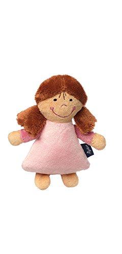 Sigikid Sigikid42230 Mädchen, Rassel Puppe, Blue Collection, Rosa, 42230