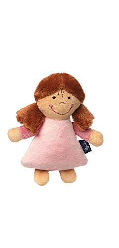 Sigikid Sigikid42230 Mädchen, Rassel Puppe, Blue Collection, Rosa, 42230