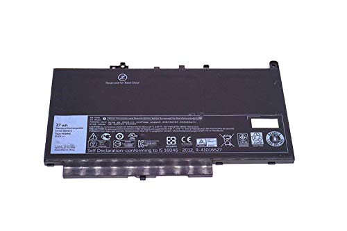 Hubei 11.1V 37Wh Batería para portátil PDNM2 Compatible con DELL Latitude E7270 E7470 0F1KTM Series