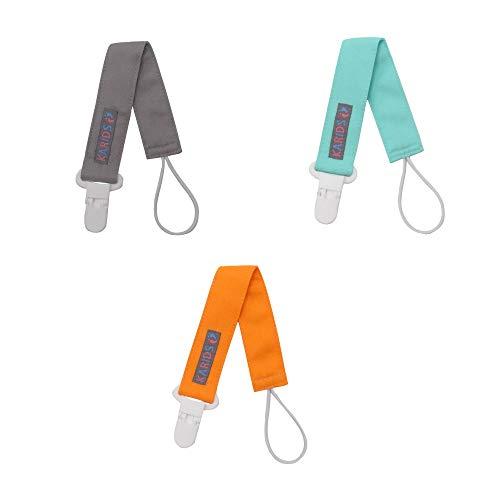 Portaciuccio Con Clip In Plastica (3 Pezzi) Per Bambini e Neonati, Adatto Per Entrambi I Sessi Maschio e Femmina - Accessorio Leggero Con Clip In Acciaio Inox Durevole Nel Tempo Per Bambini - 3 Colori