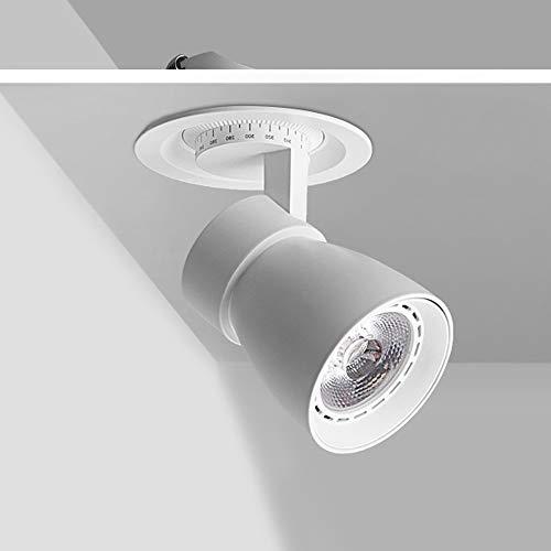 Hines Foco Blanco Luz Lujo Simplicidad Downlight LED Downlight Ajustable Empotrable Interior Down Light Aluminio Panel De Comedor Lámpara De Estudio para Niños Foco De Luz