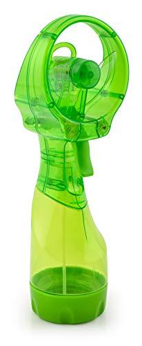 O2COOL Ventilador de nebulización de Deluxe Ventilador y vaporizador, Verde Transparente, 1