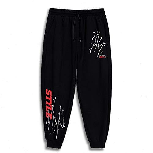 N/ A Hommes Cargo Combat Jogging Bottoms Pantalons Cordon de Serrage Couleur Unie Pantalon Taille élastique Survêtement Joggers Gym