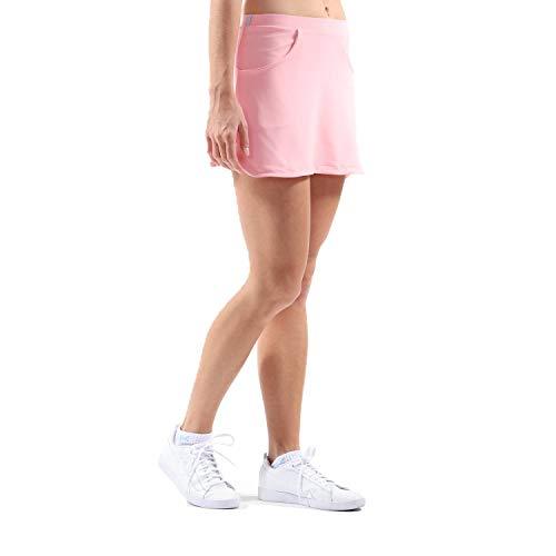 Sportkind Mädchen & Damen Tennis, Hockey, Golf Classic Rock mit Taschen & Innenhose, Hellrosa, Gr. 116