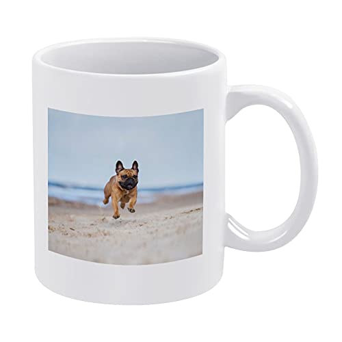 Adorable Red French Bulldog Dog Coffee Mug Ceramic Tea Cup For Latte Cappuccino Cocoa Cereal Hot Chocolate