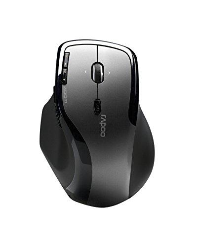 Rapoo 7600 Plus kabellose Maus mit 2,4 GHz Wireless-Verbindung, Nano USB-Empfänger, 1000 DPI Sensor, grau