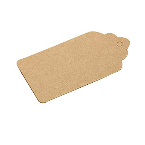 Demino 100st Label Kraft papier blanco Hang Tags Wedding Party Kerst Gunst Notes Solid Gift Card