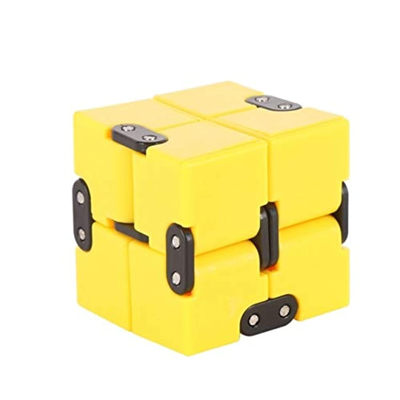 DishyKooker Infinity Cube Mini Fidget Toy Finger EDC Anxiety Stress Relief Magic Cube Blocks Adult Children Kids Funny Toys Best Gift New Yellow