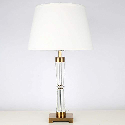 SWNN Lámpara De Mesa De Viento De Lujo De Luz Posmoderna Tela Simple Sala De Estar Estudio Lámpara De Mesa De Cristal (Style : B)