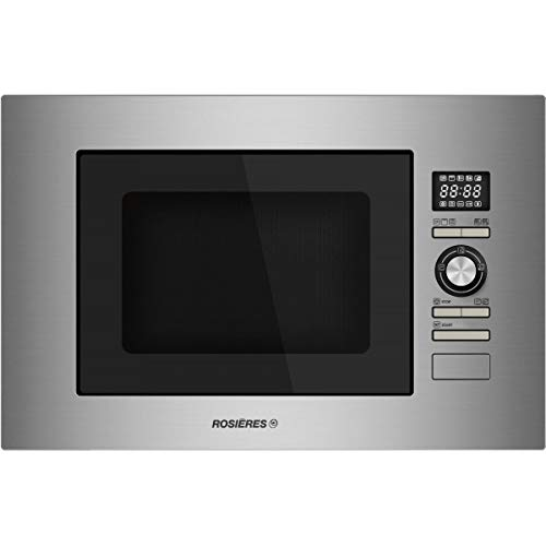 Micro ondes Grill Encastrable Rosieres RMG28/1IN - Micro-Ondes + Grill Intégrable Inox - 28 litres - 900 W