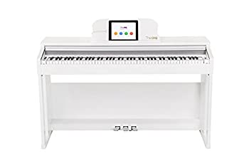 The ONE Smart Piano Weighted 88-Key Digital Piano Grand Graded Hammer-Action Keys Upright Piano-Classic White