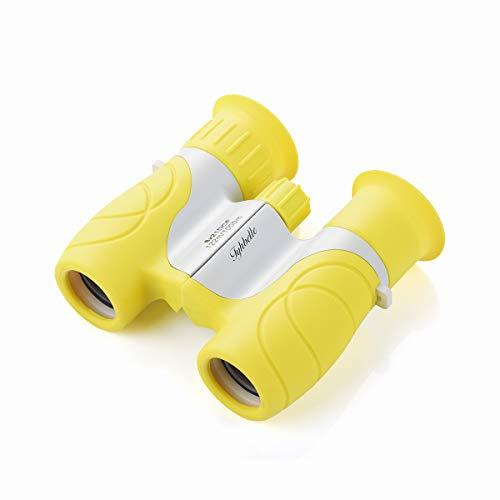 Tyhbelle Mini Kinderfernglas 8 X 21, Robustes Fernglas für Kleine Entdecker in Blau,Grün und Pink (Gelb)