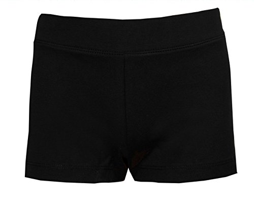 Shorts für Mädchen in Schwarz fürs Tanzen, Training, Radfahren, usw. Gr. 8-9 Jahre, Schwarz