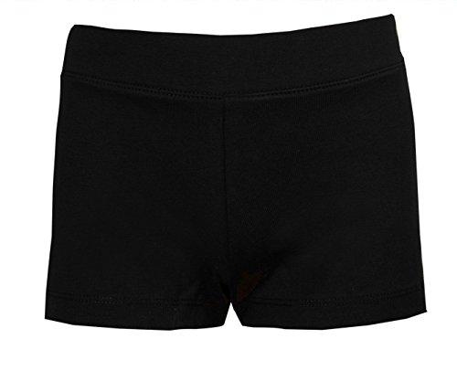 Shorts für Mädchen in Schwarz fürs Tanzen, Training, Radfahren, usw. Gr. 6-7 Jahre, Schwarz