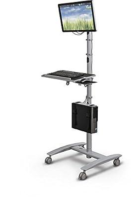 "Balt Beta Sit Stand Mobile Workstation Cart, 67""H x 32""W x 33""D (27614)"