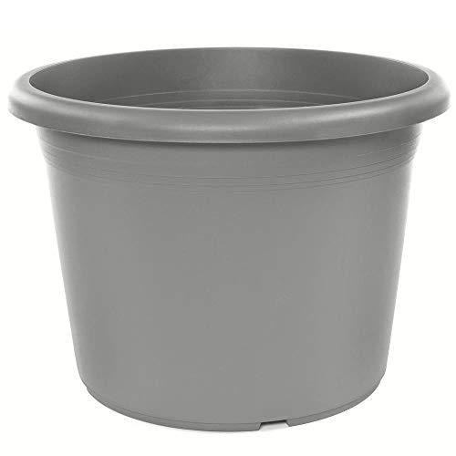 HOME-PRO ProHome 34031 Turin Pot Rond en Plastique Couleur Terre-Cuite 50 cm de diamètre x 37,5 cm de Hauteur