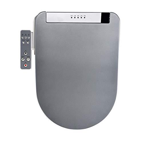 Asiento inteligente del inodoro, control eléctrico alargado Auto SPA SPA SMART CARE DE SECURIDAD WC TABERA DE BIDET (38cm x 51 cm),Gris