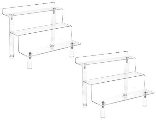 Masqudo Acryl-Display-Ständer mit 3 Ebenen für Amiibo Funko Pop Figuren, Cupcakes Ständer für Schrank, Arbeitsplatte, Tisch (22,9 x 15,2 cm)