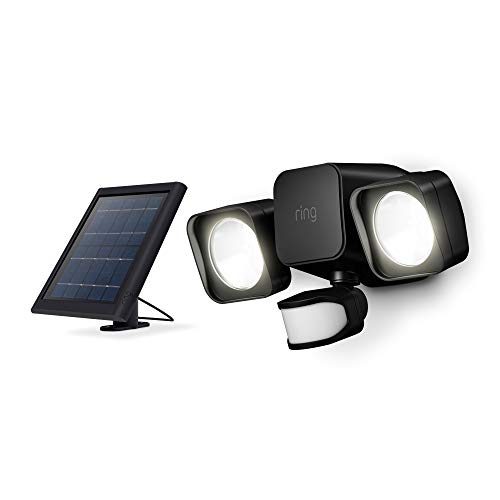 Ring Solar Floodlight -- Outdoor Motion-Sensor Security Light, Black (Ring Bridge required)