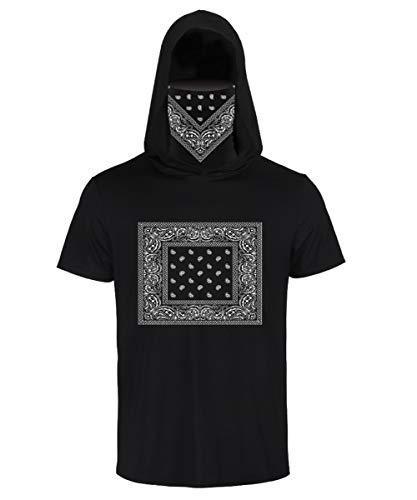 FEOYA Herren T-Shirt Kapuze Sportshirt Freizeithemd Basic T-Shirt mit Sturmhaube Kapuzenpullover Sweatshirt Hoodie