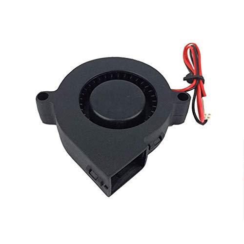 HzdaDeve Ventola per stampante 3D, 24 V, 5015, 50 x 50 x 15 mm, cavo 30 cm