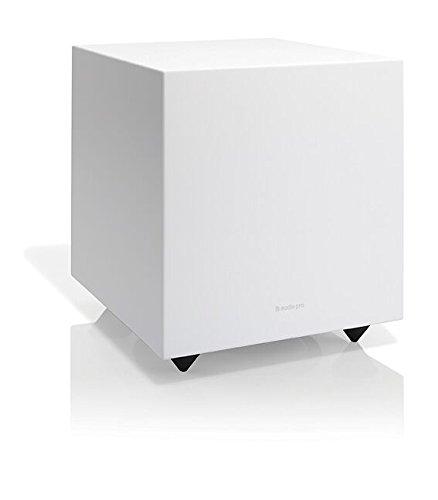 """Audio Pro Addon SUB 8"""" Aktiver Bass-Reflex Subwoofer (LFE + RCA, 150W) Weiß"""