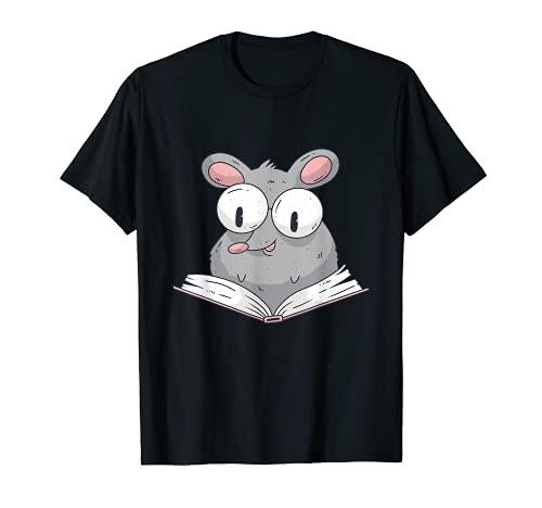 Divertido libro de lectura con dibujos animados, regalo para amigos del libro. Camiseta