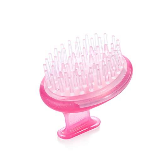 Brosse Doux Bain shampooing mâle et Femelle Silicone Shampooing Lazy Shampooing Shampooing Massage Shampooing Artifact Peigne Peigne Grabbing Pratique (Color : Pink)