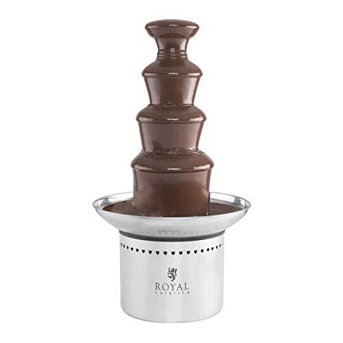 Royal Catering Fontaine à Chocolat 4 étages RCCF-230W (effet de cascade, grande capacité : 6 kg, écoulement doux du chocolat, élément chauffant efficace de 230W)