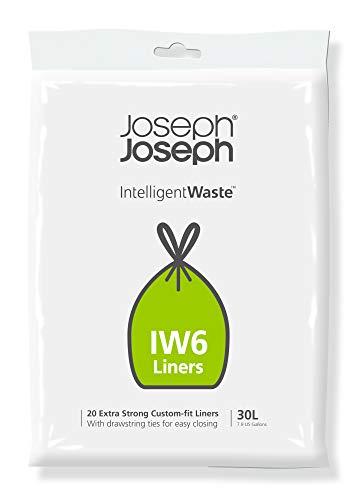 Joseph Joseph Intelligent Waste - Abfallbeutel mit perfekter Passform, 20 Stück, 30 Liter - grau