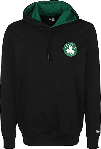 New Era NFL Engineered Half Zip Boston Celtics Hoodie Black