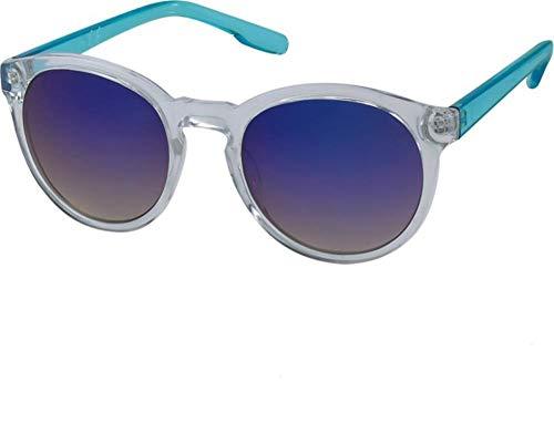 Chic-Net des Lunettes de Soleil sur Sun Glasses 400UV Transparente Pont Serrure rétro réfléchissantes Bleu